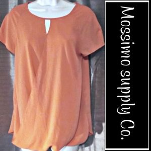 Mossimo supply Orange/peach mix sheer poly blouse